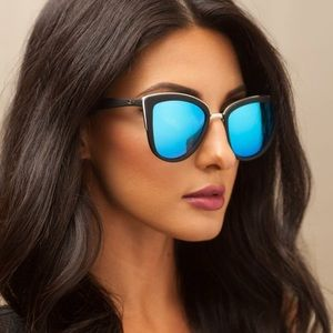 "1a8a4b9b30 Quay Australia Accessories - QUAY ""MY GIRL"" Sunglasses black blue cat eye"